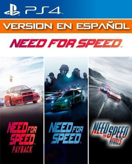 Need For Speed Triple Pack - Ps4 ( Jugas Con Tu Usuario )