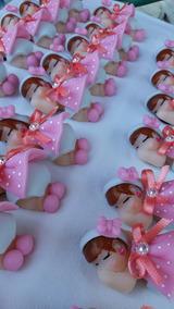 100 Lembrancinhas Maternidade Ima Meninas Biscuit
