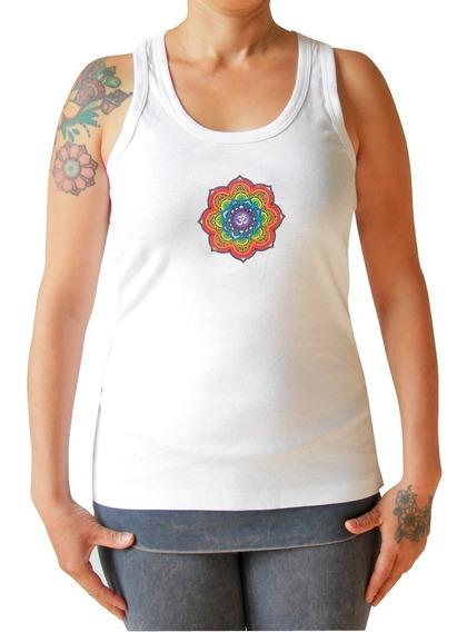 Playera Mujer Con Chakras Ropa Yoga - Simbolo Om Al Frente