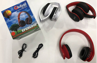 Auriculares Bluetooth Radio Fm Sd Vincha Negro O Rojo Epeb01