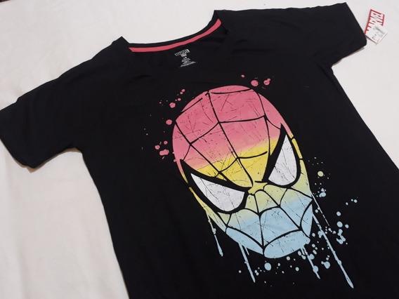 Remera Spider Man Marvel Original - Talle L Dama