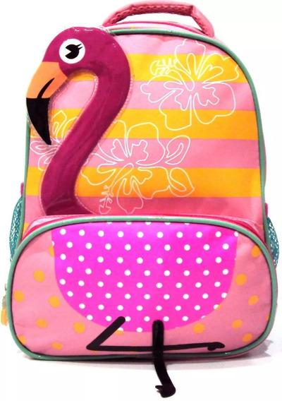 Mochila Infantil Passeio Flamingo Coleção Zoop Tam P Costas
