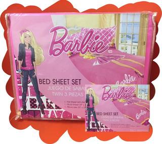 Juego De Sabanas De Barbie Para Niñas Twin 3 Piezas