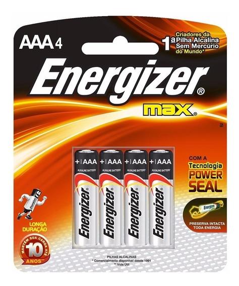 Pilha Alcalina Aaa4 Energizer Max Palito 8 Cart C/4-32pilhas