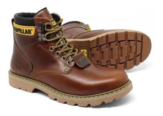 Sapato Bota Caterpillar Coturno Em Couro Original Legítimo
