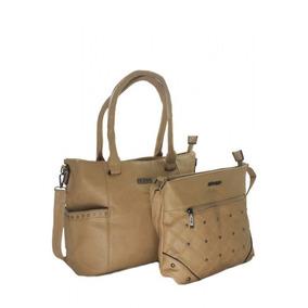 Kit Com 2 Bolsas Feminina Lindas Couro Kit Com 2 Hd9024kh
