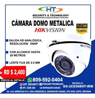 Camara De Seguridad Domo Hikvision Hd 1080p Metálica