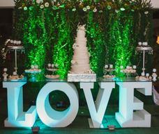 Bodas Letras Love, Boda Civil, 15 Años, Matrimonio