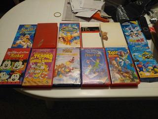 Coleccion X12 Vhs Peliculas De Disney + 2 Extras Castellano