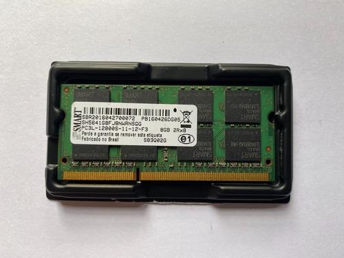 Imagem 1 de 3 de Memória Ram Notebook 8gb Ddr3 1600 Smart Sh5641g8fj8nwrnsqg