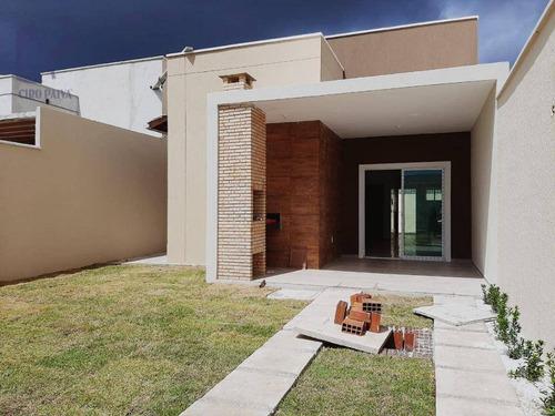 Casa Com 3 Dormitórios À Venda, 89 M² Por R$ 275.000,00 - São Bento - Fortaleza/ce - Ca3034