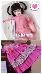 1 Bebê De 16 Itens + Vestido Florido