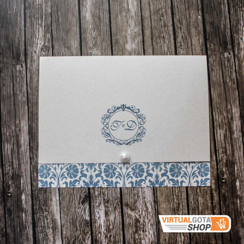 150 Convites De Casamento Com Monograma Personalizado