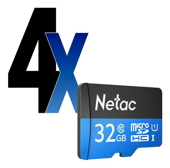 Cartão Memória Microsd 32gb 80mb/s Netac 4un