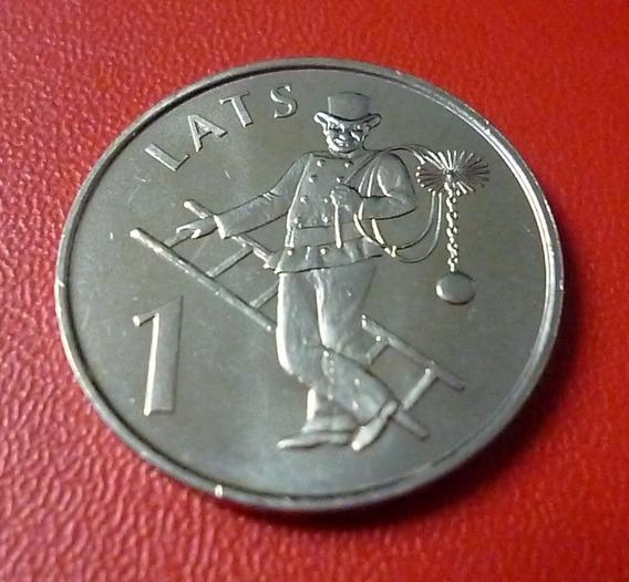 Letonia Moneda Deshollinador 1 Lats 2008 Unc