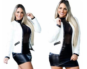 310a763fcf Kit 5 Blazer Blusas Feminino Detalhe Em Cirrê Moda Instagram