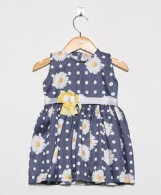 Vestido Bebê Floral Estampas - Varias Cores - Linha Luxo