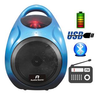 Parlante Bafle Karaoke 2 Canales Bluetooth Usb Bateria Radio