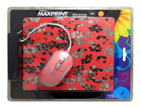 17x Mouse Ótico Usb Maxprint + Base Para Mouse C/ Nfe