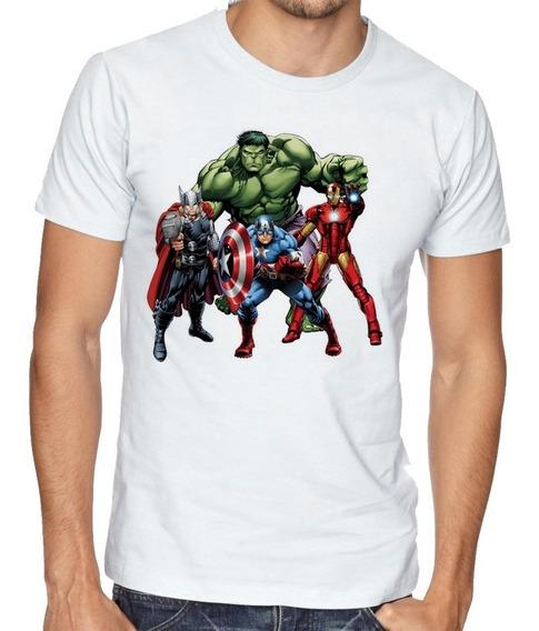 Camiseta Luxo Vingadores Hulk Thor Capitão Homen Ferro Marve