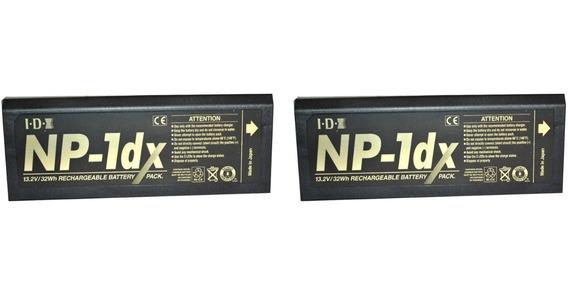 Bateria Recarregavel Camera De Video Sony Idx Np-1dx Kit 2