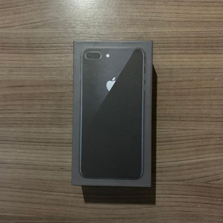 Caixa iPhone 8 Plus Preto Black Cinza 256gb + Manuais