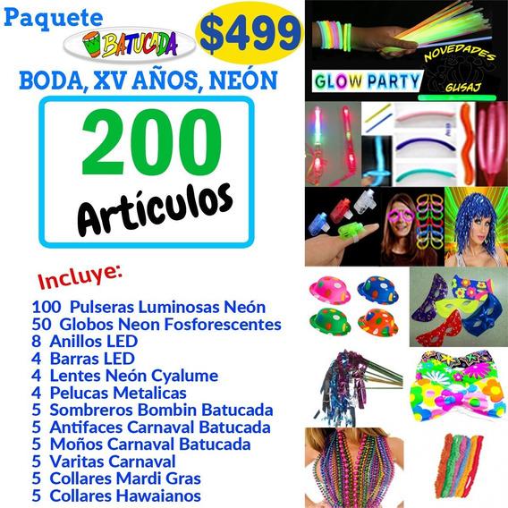 Paquete Batucada $499 Boda Neon Fiesta Party Xv Envio Gratis