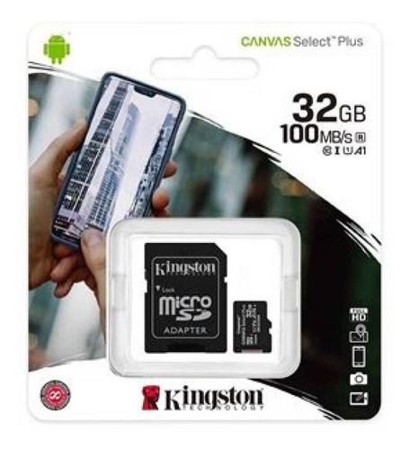 Micro-sd Kingston 32gb Clase 10 Select Plus