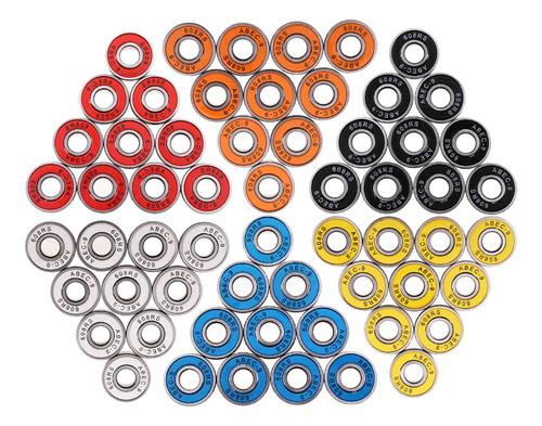 60 Peças Abec-9 608rs Roller Skate Roda Rolamentos De