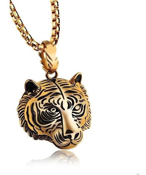 Nuevo Collar Tigre Acero Inoxidable Titanio Dominante M901