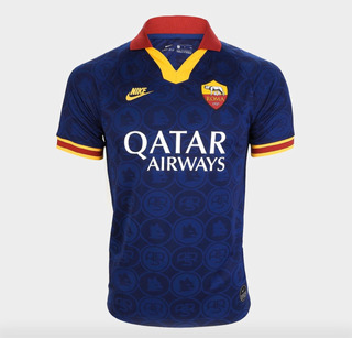 Camiseta De Time De Futebol Roma 2020 Azul