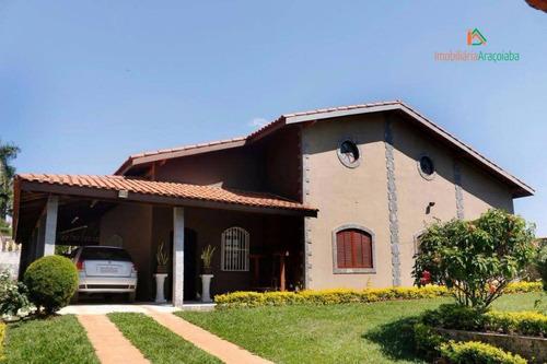 Chácara Com 4 Dormitórios À Venda, 1000 M² Por R$ 700.000,00 - Residencial Alvorada - Araçoiaba Da Serra/sp - Ch0085