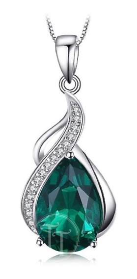 Collar Esmeralda 2.70 Ct Plata Esterlina 925 Drop