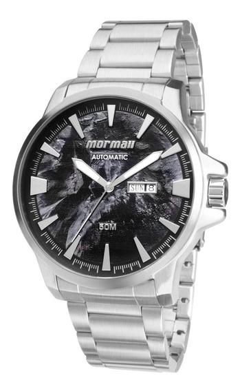 Relógio Mormaii Masculino Automático Prata Mo8205ab/3p Orig