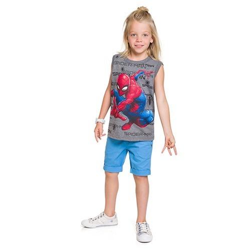Camiseta Brandili - Regata Menino Homem Aranha