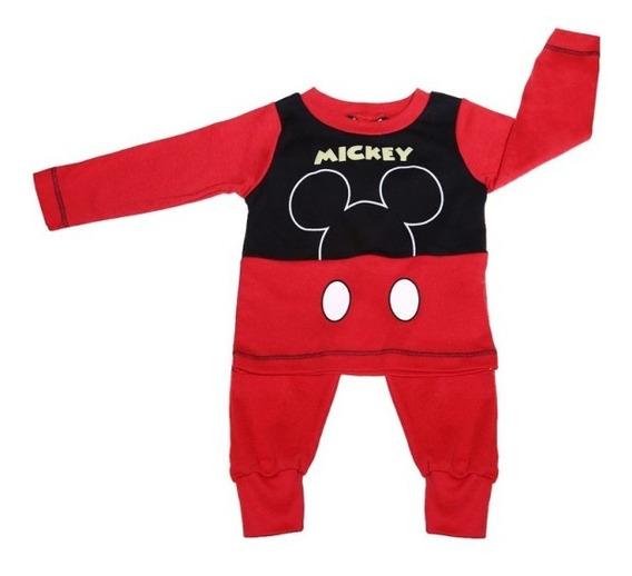 Pijama Bb Ideal Disney Pantalon/camisa Interlok Estampa Mick
