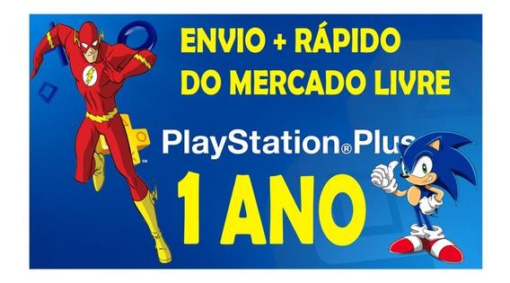 Cartão Playstation Plus 1 Ano Jogue Online Ps4 - Melhor Preço Ml