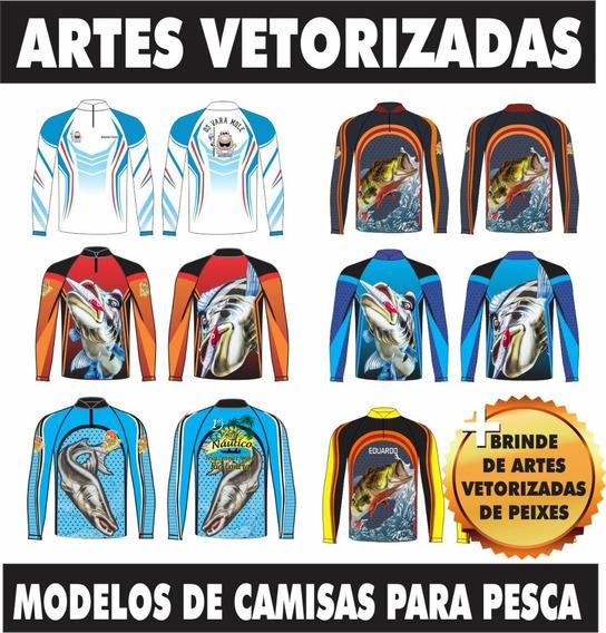 Artes Gráfica Vetores Para Pesca + Brinde