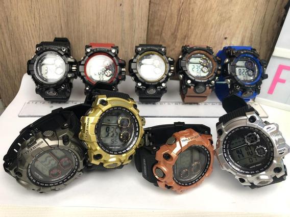 Kit 10 Relógios Masculino Militar + Caixinha Atacado Revenda