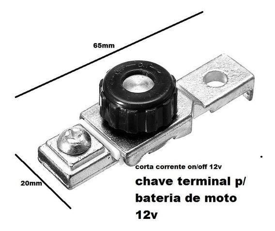 Terminal Bateria / Corta Corrente Chave Geral Neutro Motos