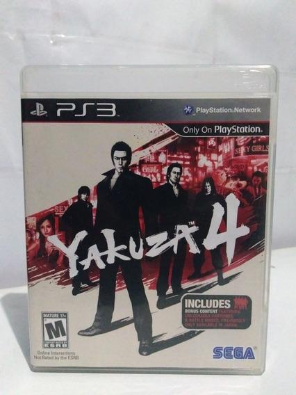 Jogo Yakuza 4 Ps3 Mídia Física Completo R$99,90