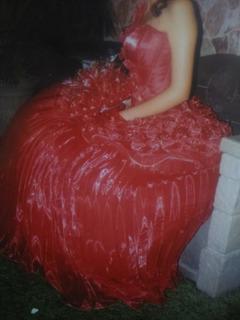 Vestido De Xv Años Rojo Cereza