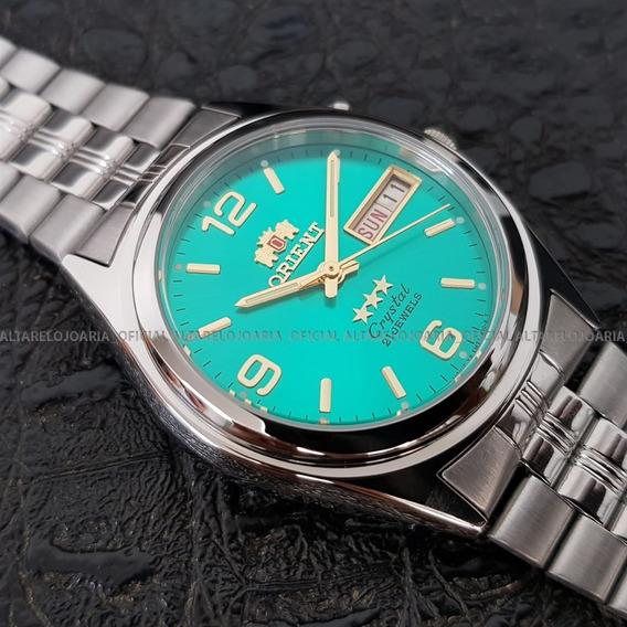 Relógio Orient Automático Clássico Calendário 6q00fn9