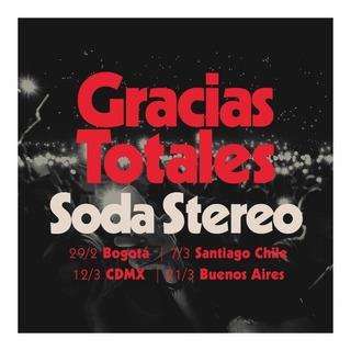 Entrada Soda Stereo Gracias Totales 21/3 2020