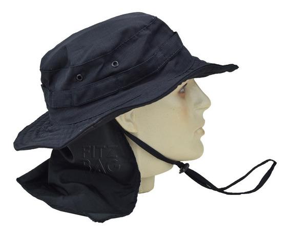 Chapéu Tático Hat Camuflado Boonie Com Aba Airsoft Rip Stop