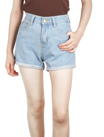 Las Mujeres Vintage Denim Pantalones Cortos Señoras Sueltos