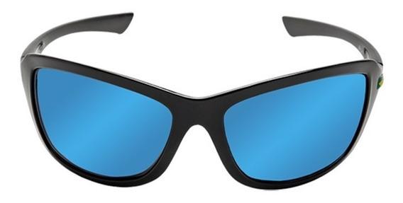 Óculos De Sol Spy Link 44 Preto / Lente Azul Espelhada
