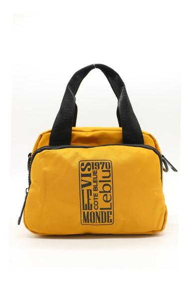 Cartera Morral Monedero De Viaje Mujer Yellow Leblu V1022