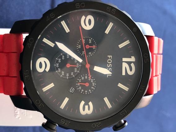 Relógio Fossil Jr1422 Pulseira Vermelha