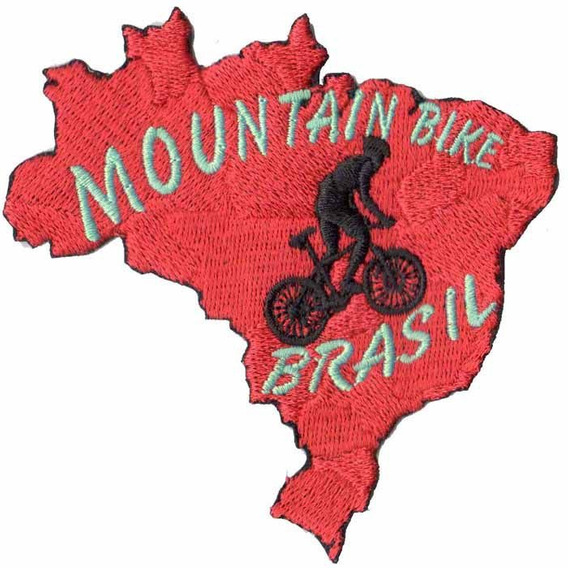 Patch Talysma P/ Camisa Ciclismo Mountain Bike Mapa Brasil